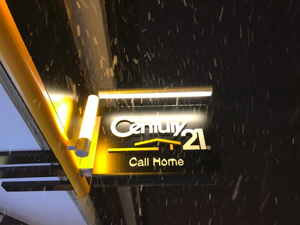 Snowing in Morzine